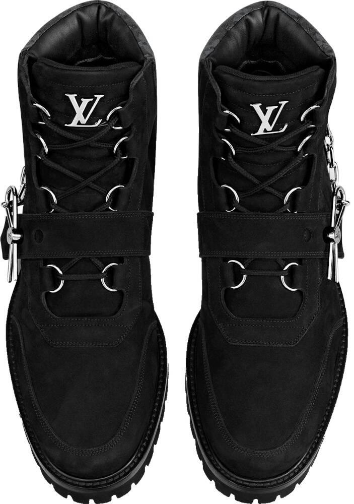 Louis Vuitton Black Suede Boots