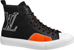 Black Canvas 'Tattoo' High-Top Sneakers