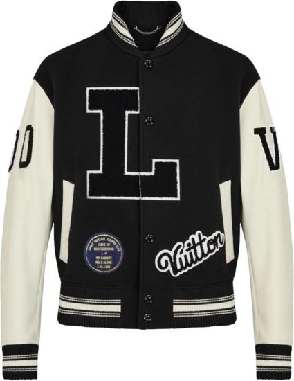 Louis Vuitton Black Varsity Jakcet