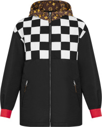 Louis Vuitton Black White Checkerboard Print Reversible Jacket