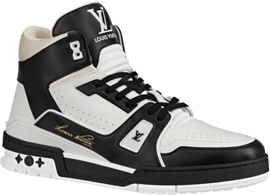 Louis Vuitton Black White Sneakers