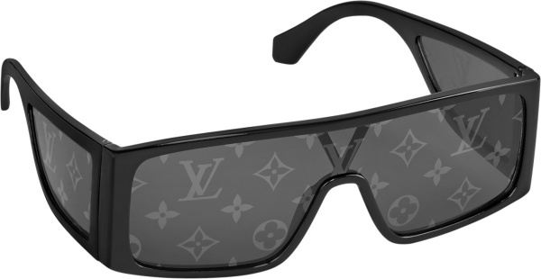 Louis Vuitton Black Wrap And Side Lens Sunglasses