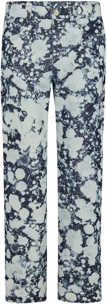 Louis Vuitton Blue And White Poppies Jeans