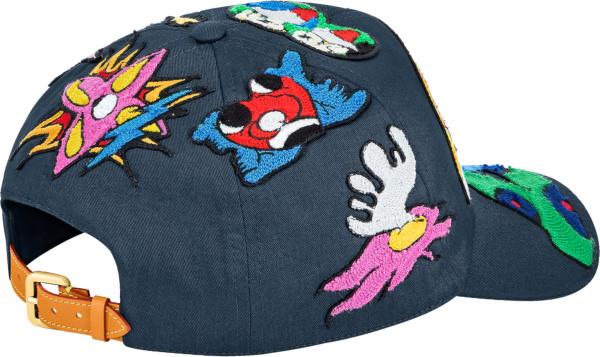 Louis Vuitton Blue Artist Patch Hat
