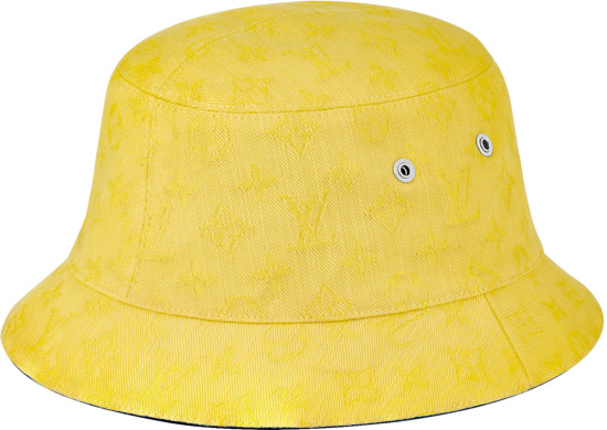 Louis Vuitton Blue Everday Lv Bucket Hat