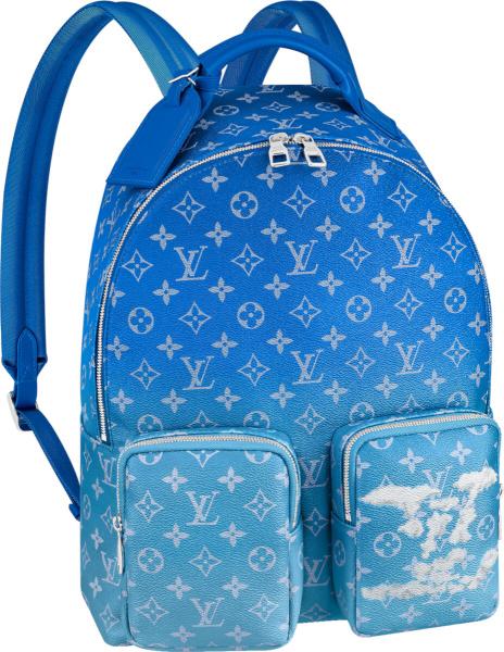 Louis Vuitton Blue Gradient Multipocket Backpack