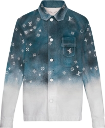 Louis Vuitton Blue Gradient Workwear Shirt