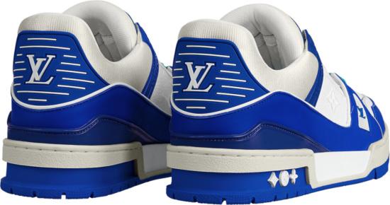 Louis Vuitton Blue Lv Trainer Low Top Sneakers