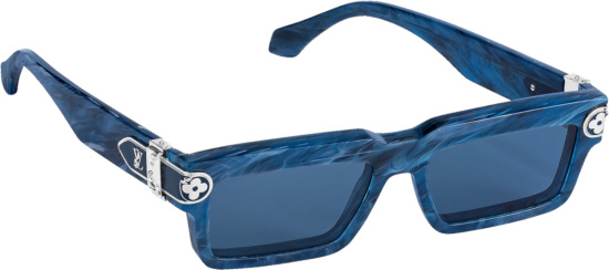 Louis Vuitton Blue Marble Rectangular Sunglasses