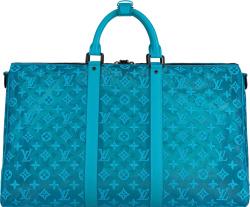 Blue Mesh 'Keepall 50' Duffle Bag