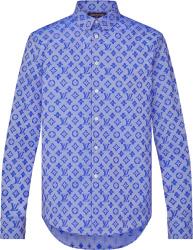 Louis Vuitton Blue Monogram Allover Print Shirt 1a8xdn
