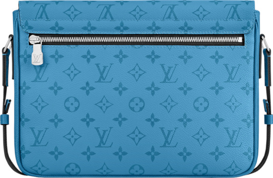 Louis Vuitton Blue Monogram Flap Bag