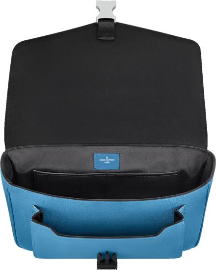 Louis Vuitton Blue Monogram Flap Messenger Bag