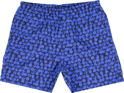 Blue Camo-Monogram Swim Shorts