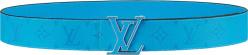 Louis Vuitton Blue Monogram Lv Initiales Belt M0264u