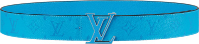 Louis Vuitton Blue Monogram Lv Initiales Belt M0264u