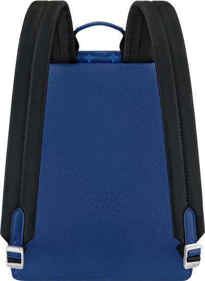 Louis Vuitton Blue Monogram Print Backpack