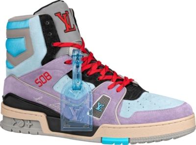 Louis Vuitton Blue Purple Sneaker Boots