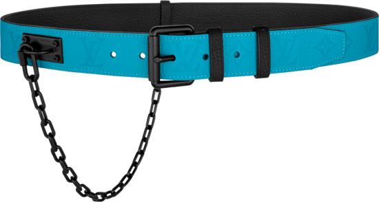 Louis Vuitton Blue Signature Chain Belt