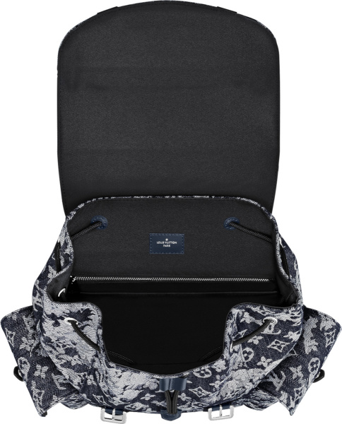 Louis Vuitton Blue Tapestry Monogram Backpack
