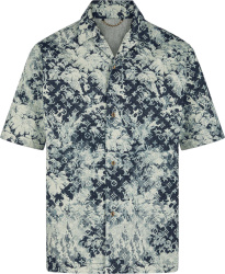 Louis Vuitton Blue Tapestry Monogram Hawaiian Shirt