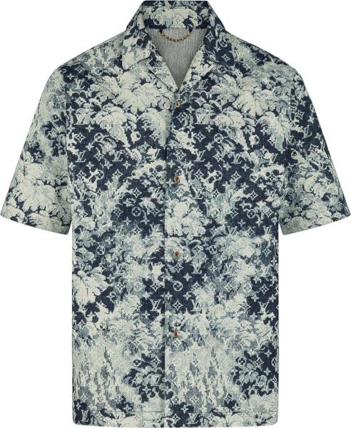 Louis Vuitton Blue Tapestry Monogram Hawaiian Shirt