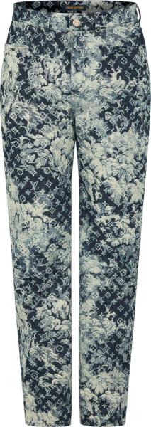 Louis Vuitton Blue Tapestry Monogram Jeans 1a8hd8