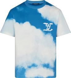 Louis Vuitton Blue White Cloud Print T Shirt