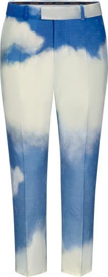 Louis Vuitton Blue White Monogram Lv Clouds 90s Pants 1a8a4g