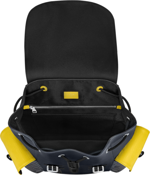 Louis Vuitton Blue Yellow Christopher Backpack