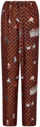 Louis Vuitton Brown Catogram Motif Printed Pajamas Worn By Jaquees