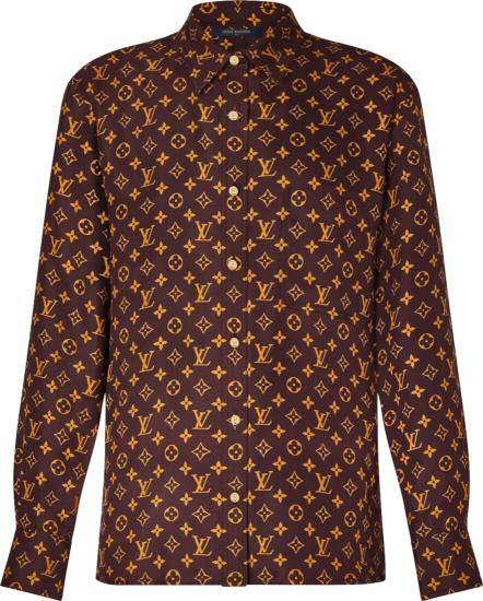 Louis Vuitton Brown Gold Monogram Shirt