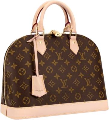 Louis Vuitton Brown Leather Alma Bag
