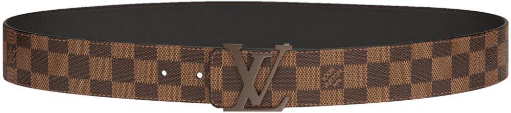 Louis Vuitton Brown Lv Initiales Canvas Belt