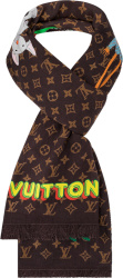 Louis Vuitton Brown Monogram Cartoon Scarf