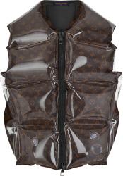 Louis Vuitton Brown Monogram Inflatable Puffer Vest 1a8pf6