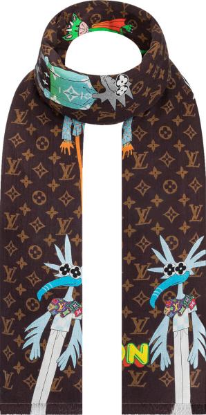 Louis Vuitton Brown Monogram Lv Friends Stole