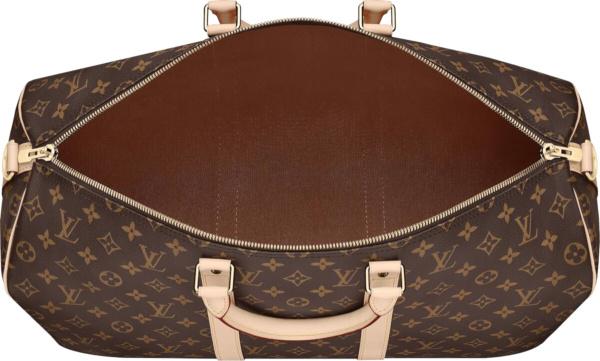 Louis Vuitton Brown Monogram Print Duffle Bag