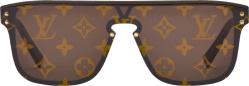 Louis Vuitton Brown Monogram Print Lens Sunglasses