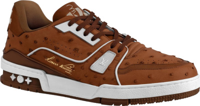 Louis Vuitton Brown Ostrach Trainer Sneakers