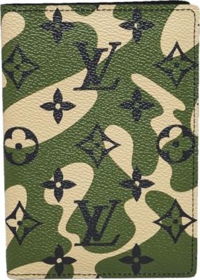 Louis Vuitton Camo Monogram Print Passport Cover