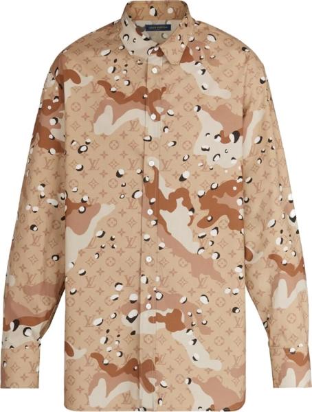 Louis Vuitton Desert Camo Monogram Jacquard Shirt
