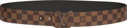 Louis Vuitton Ebene Canvas Check Intials Belt