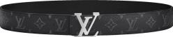 Louis Vuitton Eclipse Monogram And Silver Lv Initiales Belt