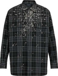 Louis Vuitton Embelllished Check Shirt