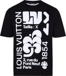 Louis Vuitton Graphic Intarsia Black T Shirt
