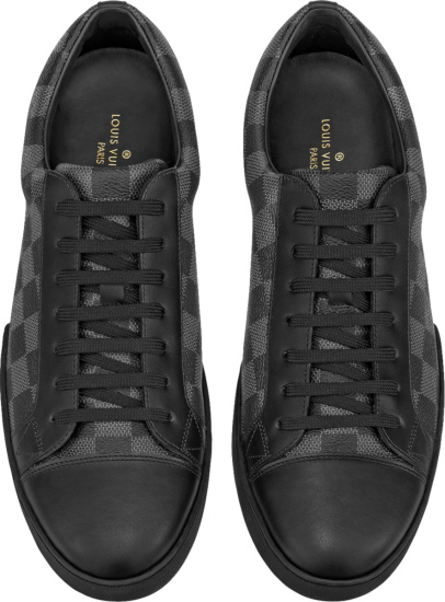 Louis Vuitton Graphite Damier Low Top Matchup Sneakers
