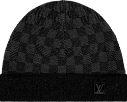 Louis Vuitton Graphite Damier Petit Knit Beanie Hat M70009