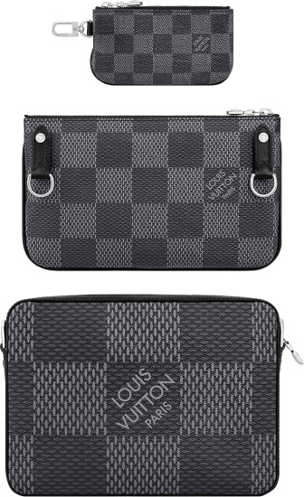 Louis Vuitton Graphite Damier Trio Messenger Bag