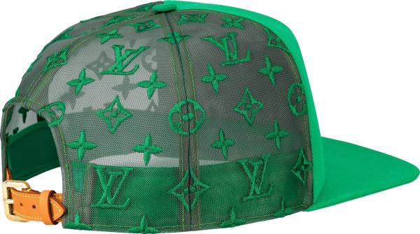 Louis Vuitton Green Monogram Embroidered Trucker Hat